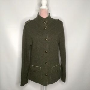 Mary wool military-style jacket.